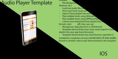 Audio Player Xcode iOS Template