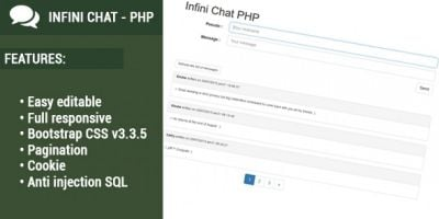 Infini Chat 2 - Responsive PHP Chat Script