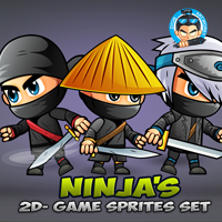 Ninja Game Sprites Set