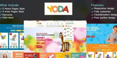 Yoda Toys HTML Template
