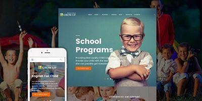 Grow Up Primary School WordPress Theme