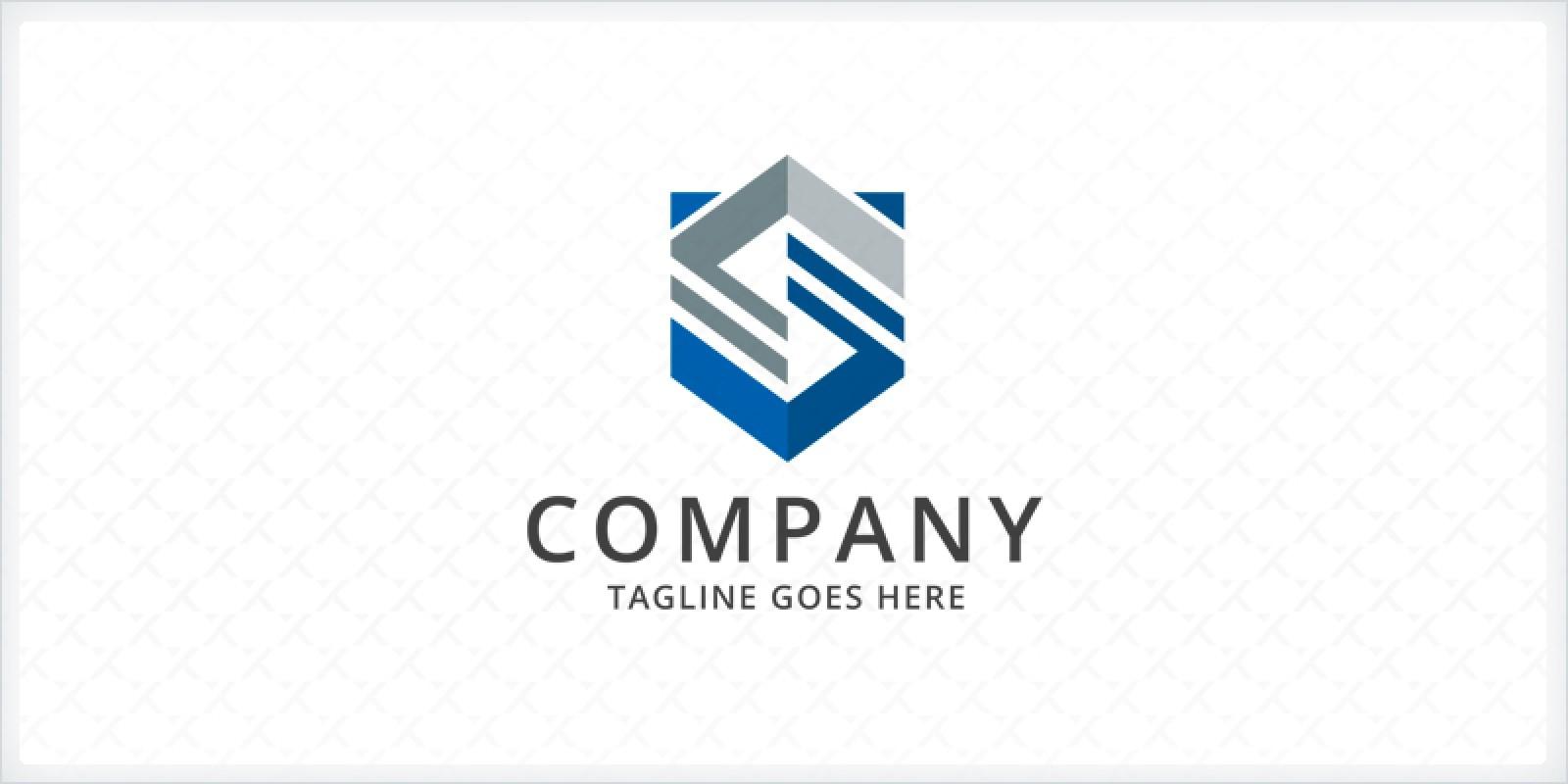 Stylized Shield  S Logo Template