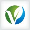 letter-v-leaf-logo-template