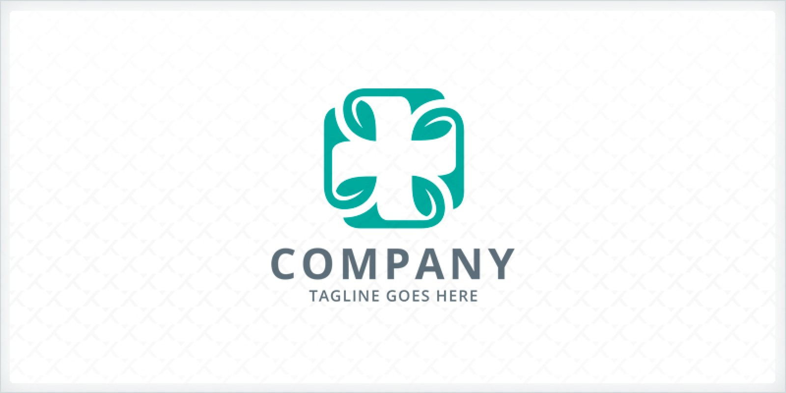 Leaves Medical Cross Logo Template