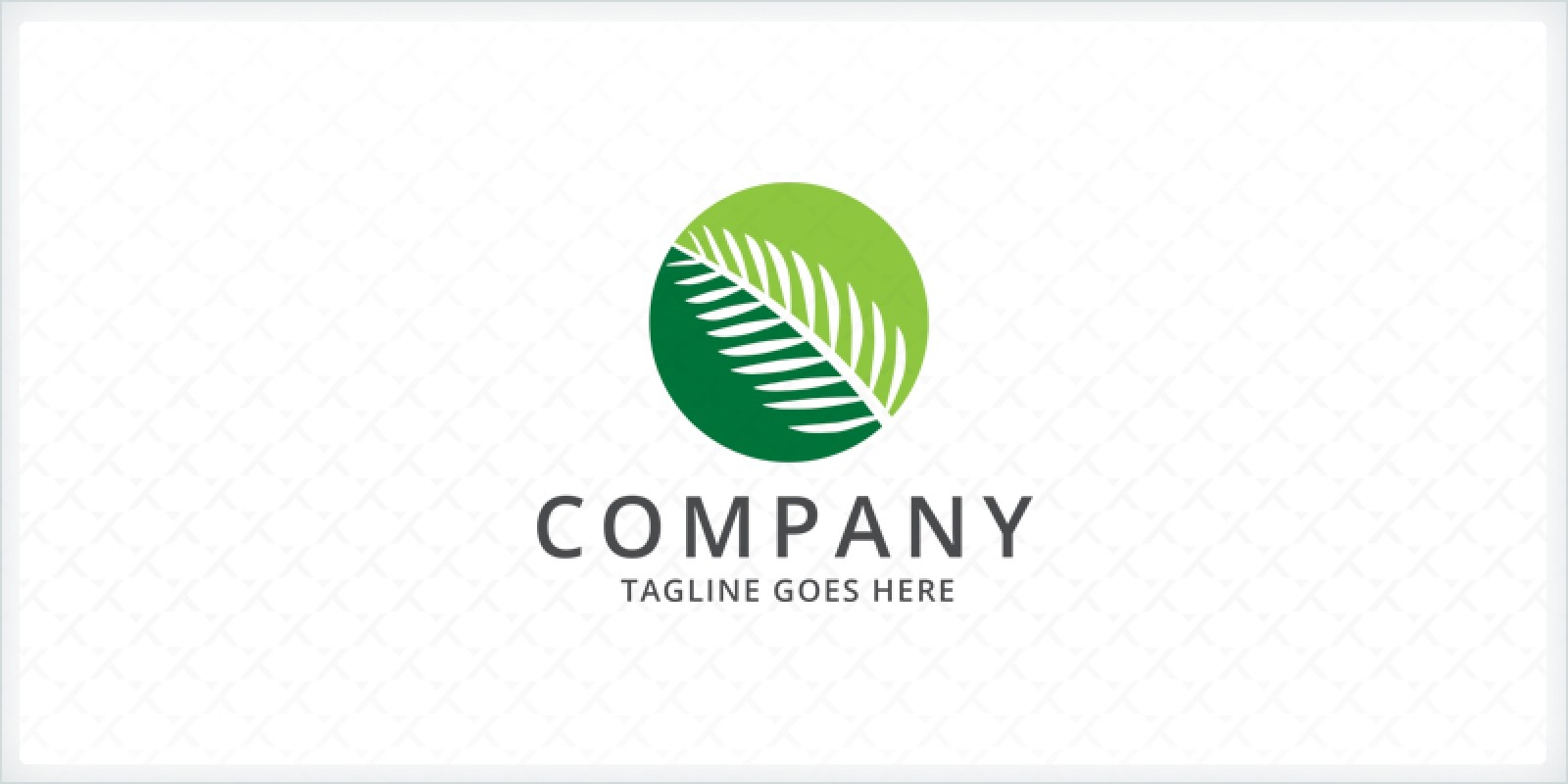 Palm Leaf Logo Template