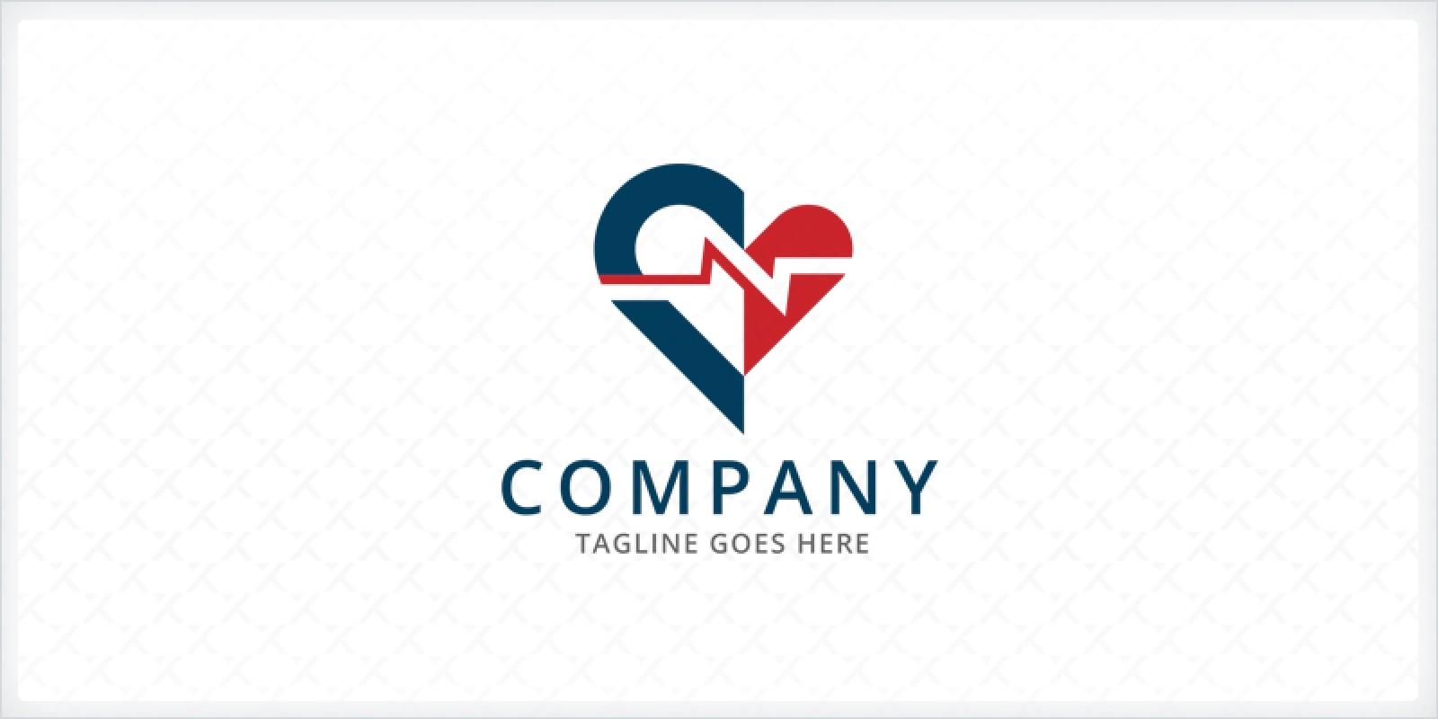 Heart Beat - Electrocardiography Logo