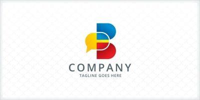 Speech Bubble - Letter B Logo Template