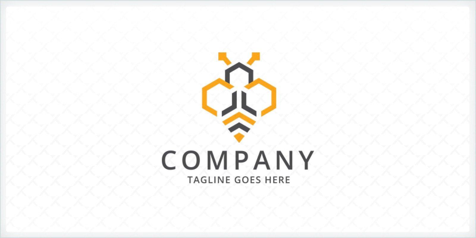 Hexagon Bee Logo Template