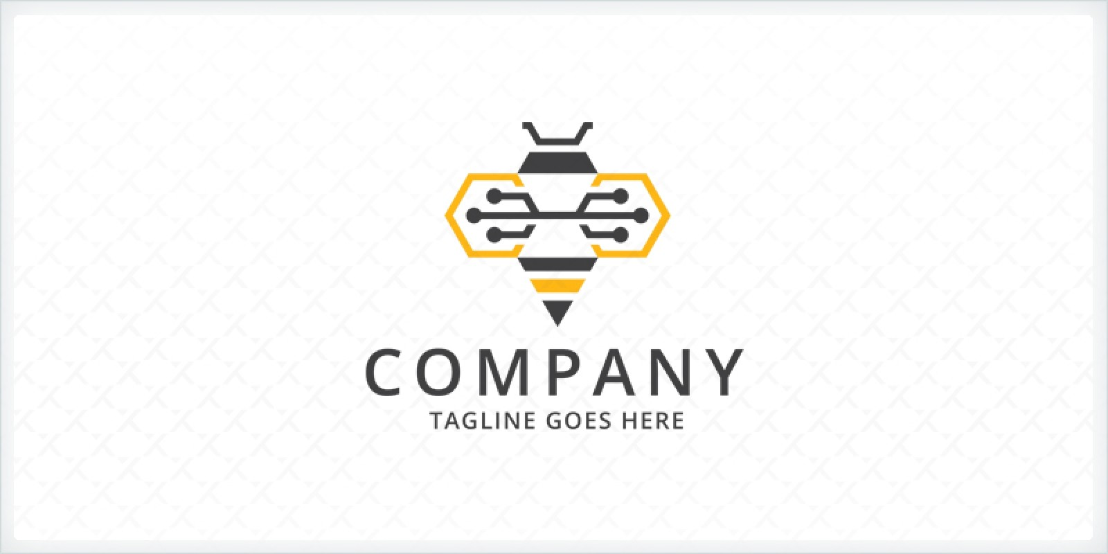 Circuit Bee Logo Template