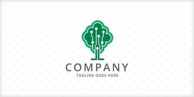 Digital Tree Logo Template