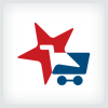 shopping-cart-and-star-logo-template
