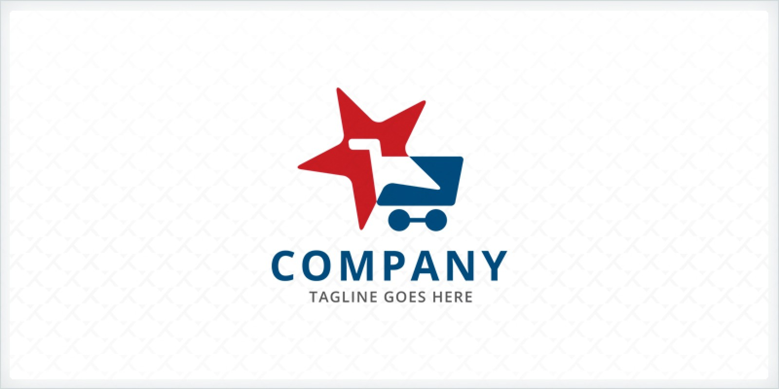 Shopping Cart And Star Logo Template