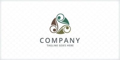 Ornamental Foliage Logo Template