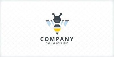 Pen Bee Logo Template