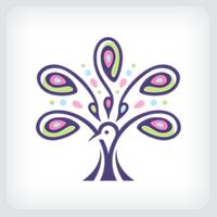 Peacock Tree Logo Template