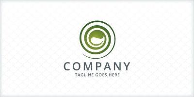 Spiral Leaf Logo Template