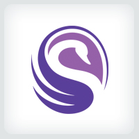 Beauty Swan Logo Template