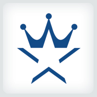 Star and Crown Logo Template