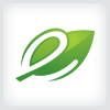 leaf-letter-e-logo-template
