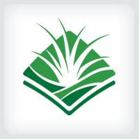 Grass Turf Lawn Care Logo Template
