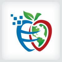Apple Globe - Education Logo Template