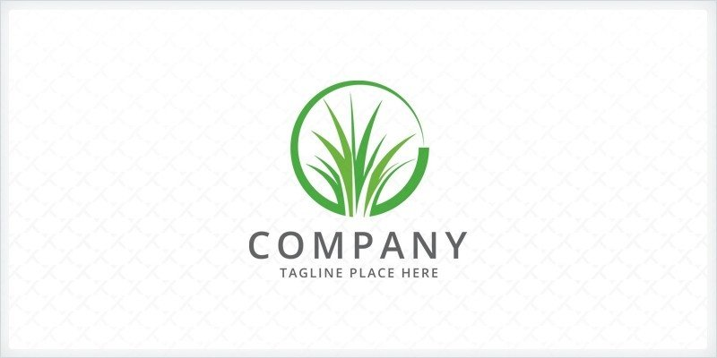 Grass - Lawn Care Logo Template