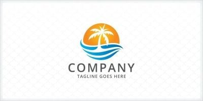 Palm Tree Logo Template