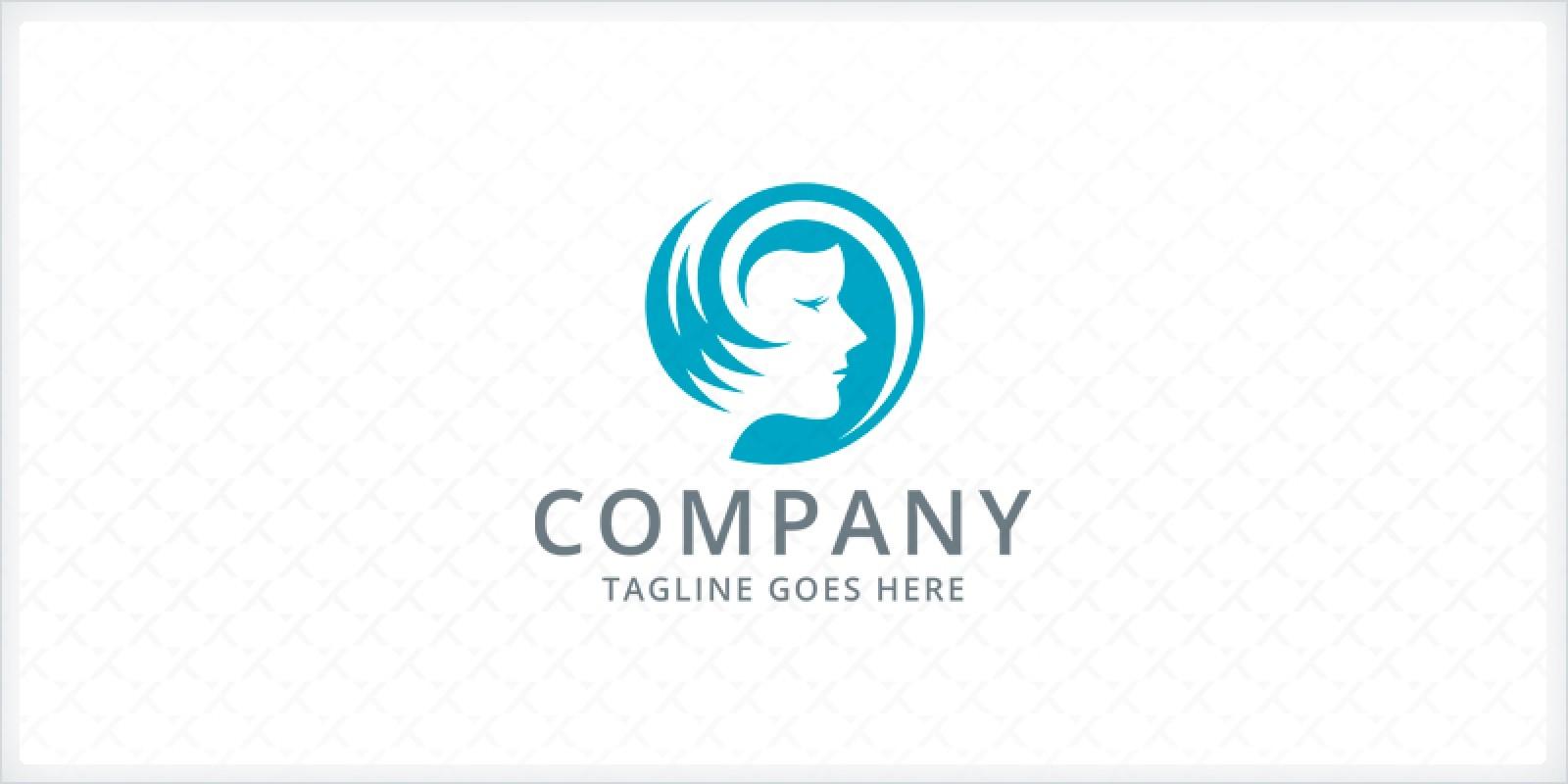 Hair Salon - Woman Logo Template