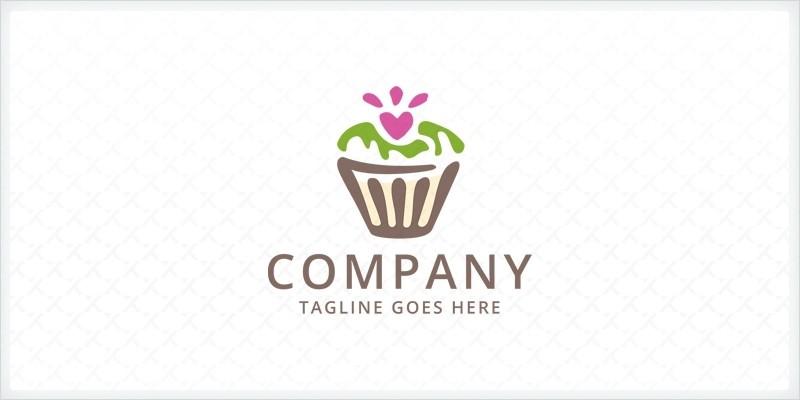 Cupcake Logo Template