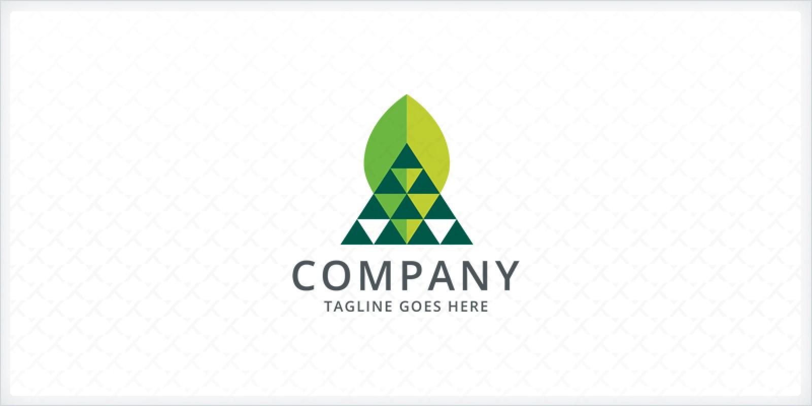Delta Leaf Logo Template