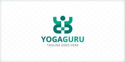 Yoga Guru - People Logo Template