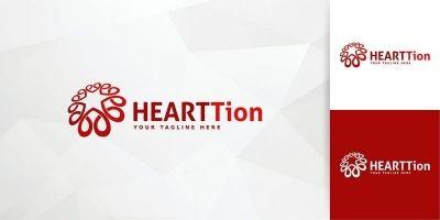 Heart Tion Logo Template