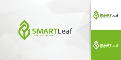 Smart Leaf Logo Template