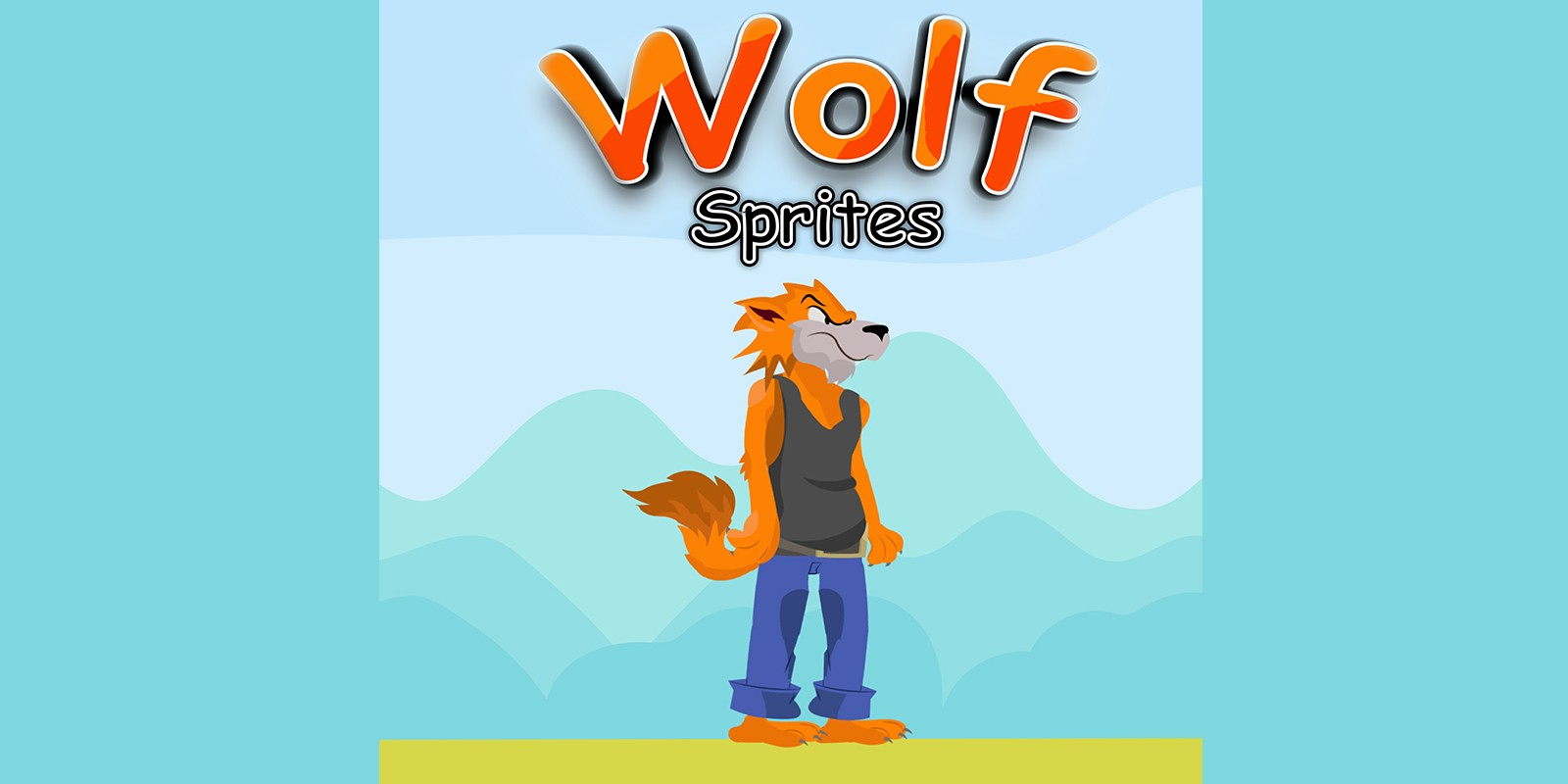 Wolf Game Character Sprite Sheets