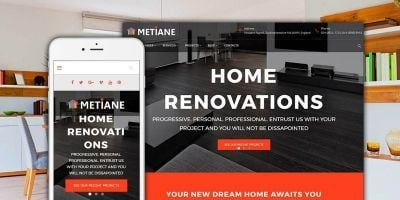 Metiane - Interior Design Wordpress Theme