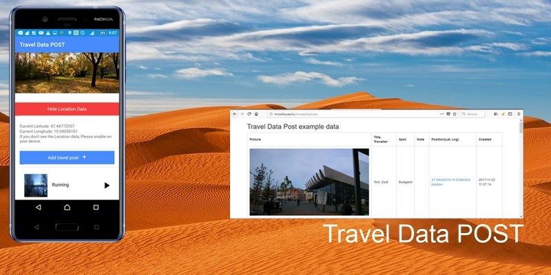 Travel Data Post - Ionic 3 App With PHP Backend