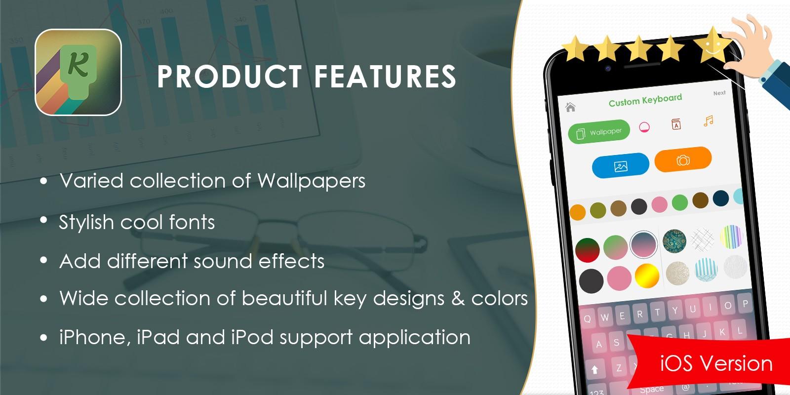 My Photo Keyboard Background - iOS Source Code