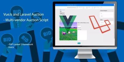 PHP Laravel Auction - Multi-vendor Auction Script