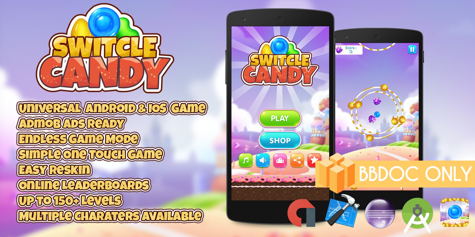 Switcle Candy - Buildbox Game Template