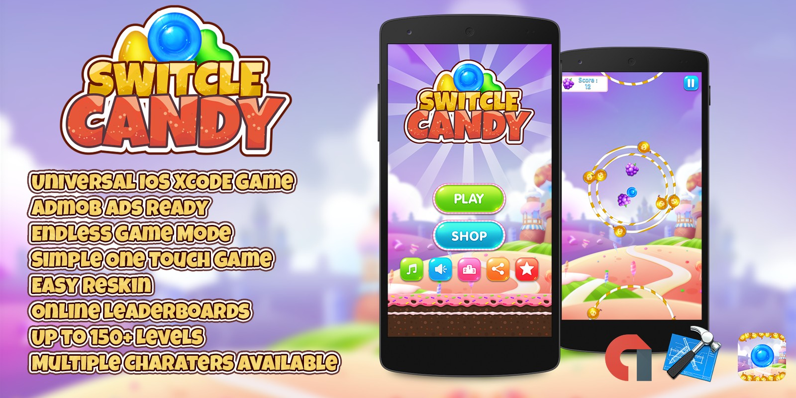 Switcle Candy - iOS Xcode Game Template