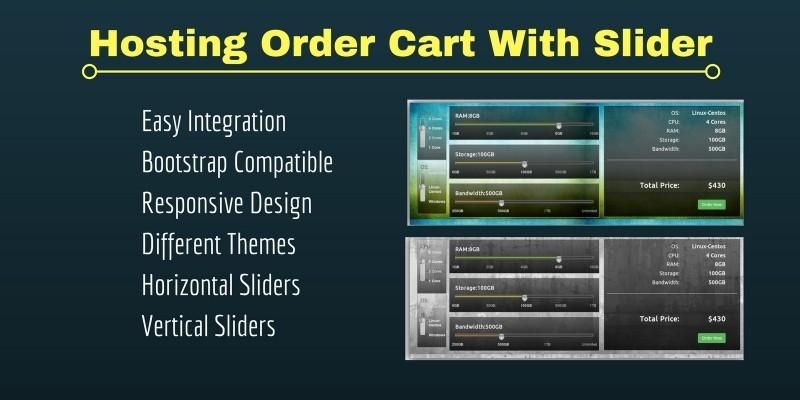 Responsive Hosting Order Form With Slider
