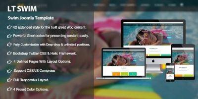 LT Swim – Swimming School Joomla  template