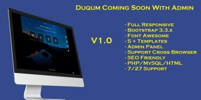 DUQUM Coming Soon Script With Admin Panel