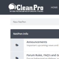 Clean Pro - MyBB Theme