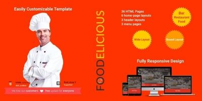 Foodelicious - Loung Bar Pub Restaurant Template