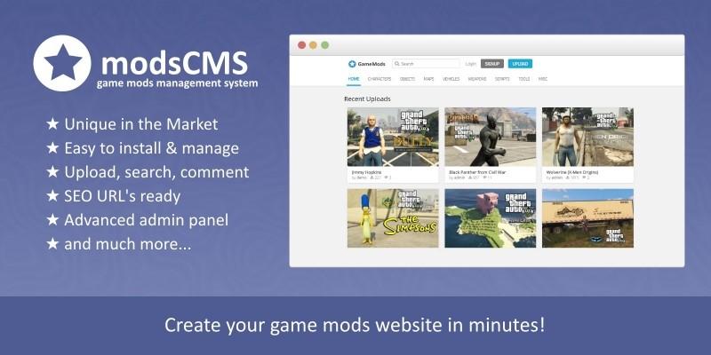 ModsCMS - Game Mods PHP Script