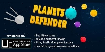 Planets Defender - iOS Source Code