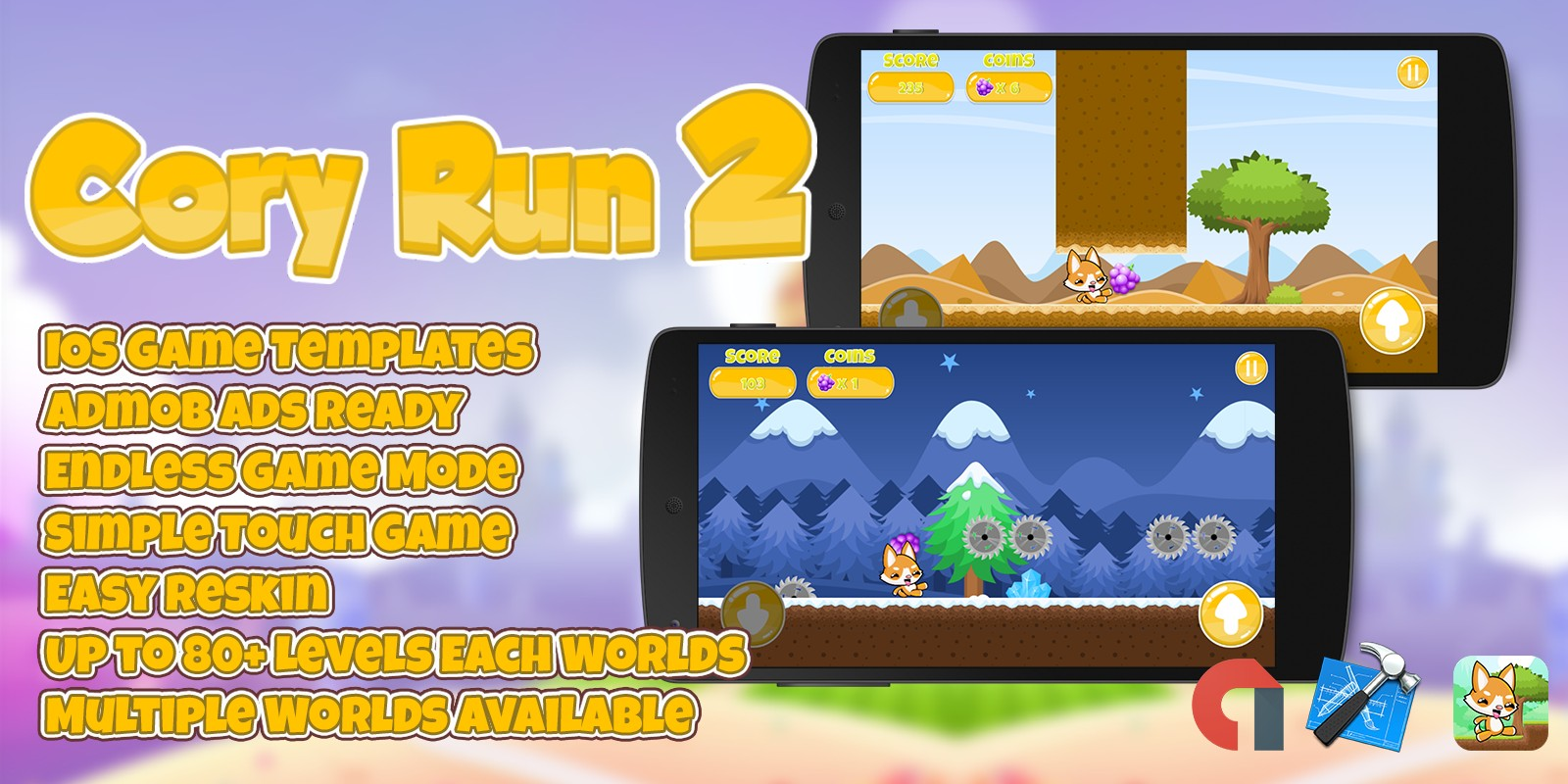 Cory Run 2 - iOS Xcode Source Code