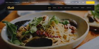 Pazto - Food And Restaurant HTML Template