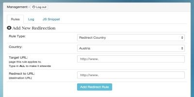 PHP GeoIP Country Redirect